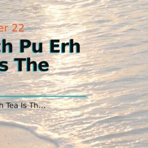 Which Pu Erh Tea Is The Best