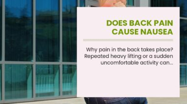 Does Back Pain Cause Nausea
