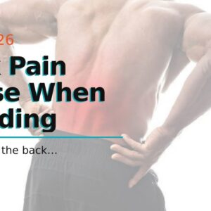 Back Pain Worse When Standing