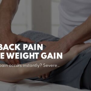 Can Back Pain Cause Weight Gain